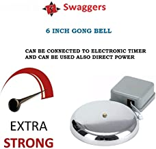 SWAGGERS Metal Strong Electric Gong Bell Industrial School College Factory Bell-6 inch