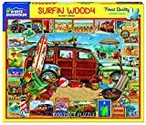 White Mountain Puzzles Surfin Woody- 1000 Piece Jigsaw Puzzle