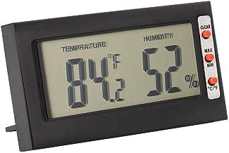 ECSWP YAJJA Termómetro Termómetro habitación Interior, higrómetro Digital de Interior Humedad del termómetro Gauge Monitor Montar en la Pared