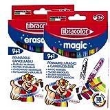 Fibracolor Erasable 9 + 1 and Magic Markers 9 + 1 Set
