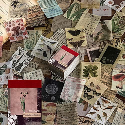 366 hojas vintage scrapbook papel scrapbook material papel pergamino estético arte...