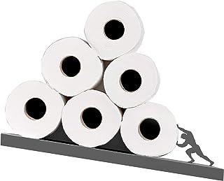 Toilet Paper Holder - Sisyphus Shelf for Toilet Paper Rolls - Bath Decor - Tilted Toilet Paper Rack - Bathroom Accessories...