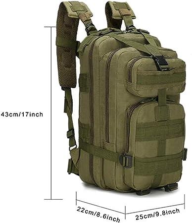 SHANNA Macutos de Senderismo,Mochila de Trekking, Mochila Militar 25L MOLLE Paquete de Asalto Mochila de Combate táctico para Excursionismo al Aire ...
