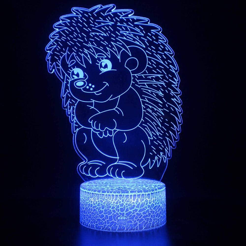 3D Illusion Night Light Lamp Animal Gorgeous Ranking TOP19 Figurine Hedgeho