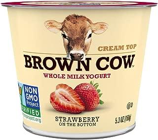 Brown Cow, Cream Top Strawberry FOB Whole Milk Yogurt, 5.3 oz