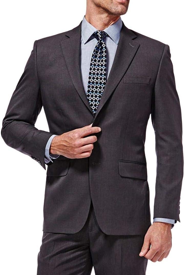 Haggar Mens Travel Performance Classic Fit Suit Coat Blazer Charcoal Jacket