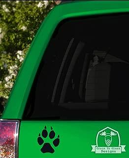 Grain To Glass Designs Wolf Paw Print Vinyl Car Decal - 5