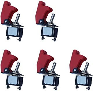 Mintice trade; 5 X KFZ Rote Kippschalter Schalter Wippschalter 12V 250V DC LED SPST 2 Polig Metall