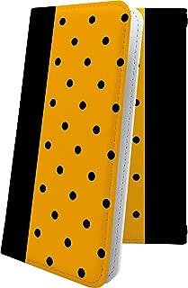 Xperia Z SO-02E ケース 手帳型 オレンジ ドット 水玉 エクスペリア 手帳型ケース チェック チェック柄 SO02E XperiaZ かわいい 可愛い kawaii lively