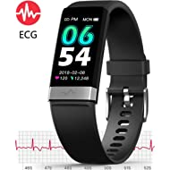 ECG Monitor Watch,Waterproof Fitness Tracker with Heart Rate Blood Pressure Monitor, Activity...