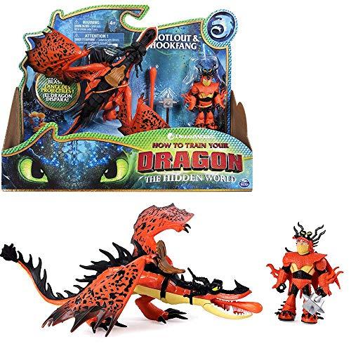 Dragons Drache Hakenzahn & Rotzbakke | DreamWorks Spiel Set | Hookfang