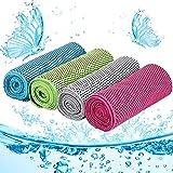 4 asciugamani alla moda, asciugamani sportivi rinfrescanti, panni in microfibra, super assorbenti, adatti per corsa, fitness, yoga, tennis, golf.