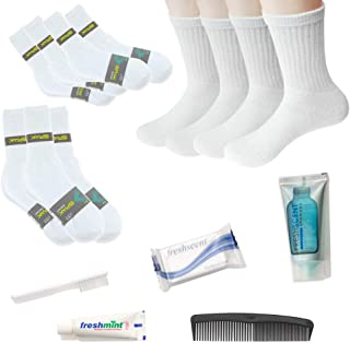 Bulk Homeless Care Package - Wholesale Case of 24 Socks and 24 Hygiene Kits