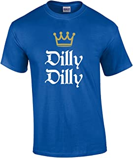 Funny Beer Drinking Dilly Dilly King Crown Outline Short Sleeve T-Shirt