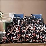 Ropa De Cama Textiles para El Hogar Funda Nórdica con Estampado Floral Suave Cómoda Duradera Y Fácil De Limpiar 229x229cm