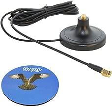 HQRP 3M RP-SMA WiFi Antenna Extension Cable Connector Magnetic Base for D-Link DIR-825 / DIR-628 / DGL-4500 / DIR-660 / DIR-615 / DIR-855 / DIR-655 + HQRP Coaster