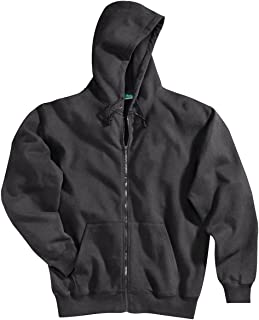 Tri-Mountain TRM Men's Poly/Cotton Comfort Prospect Sueded Finish Full Zip Hooded Sweatshirt