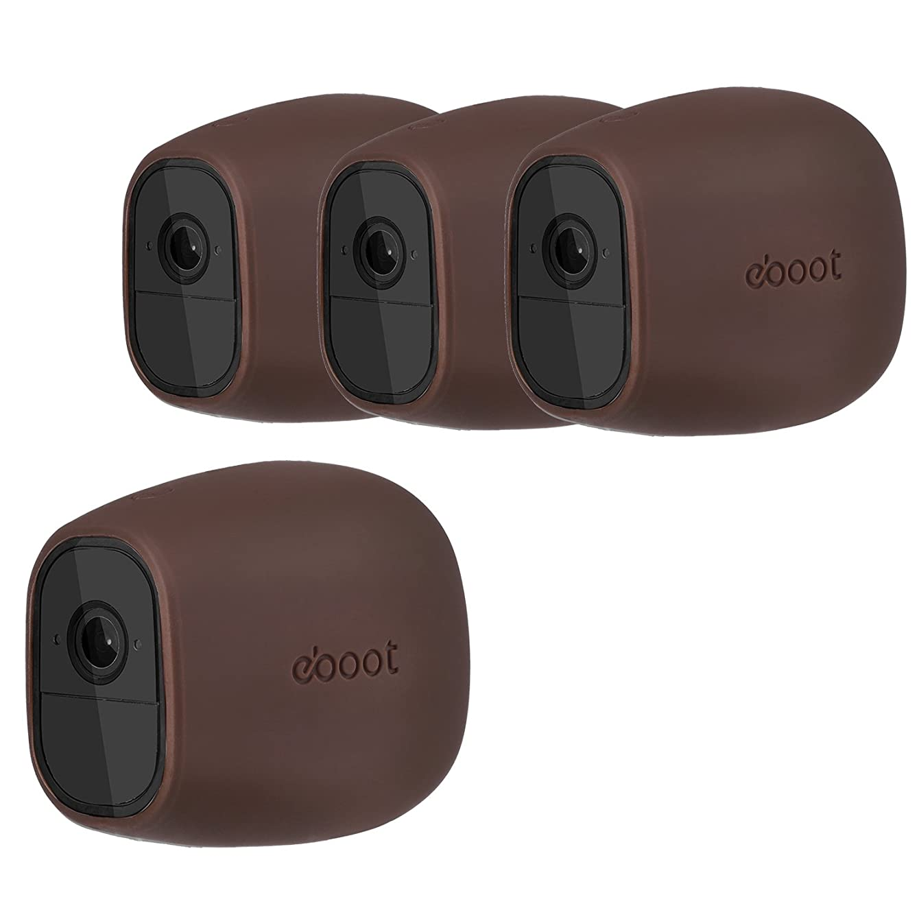 Silicone Skins Cover Protective Skin for Arlo Pro, Arlo Pro 2 Smart Security Wire-Free Cameras (4 Pack, Dark Brown)