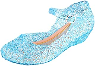 Children's Princess Shoes Cinderella Baby Girls Soft Crystal Plastic Shoes (Toddler/Little Kid) Cosplay Jelly Shoes