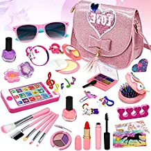Washable Makeup Toys Kit Girls - Cell Phone Real Cosmetic Toy Little Girl,Toddler & Non-Toxic Make Up Set,Children Vanities Dress Up,Child Princess Play pretend Birthday Gift,Age 3 4 5 6 7 8 Year Old