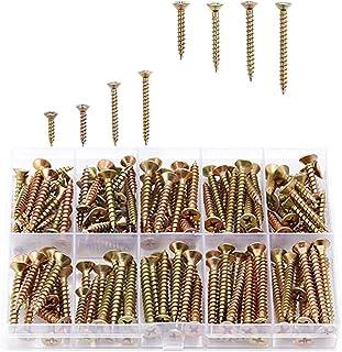 木ネジセット 十字穴付皿木ねじ イズ 全ネジ M3.5mm x 16mm/20mm/30mm/35mm M4.0mm x 25mm/30mm/35mm/40mm 160本入 修理ツール
