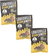 Louisville Vegan Jerky - Smokey Carolina BBQ, Vegetarian & Vegan Friendly Jerky, 21 Grams of Non-GMO Soy Protein, Gluten-Free Ingredients (3 oz)   3-Pack