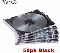 Yens 50pack pk Black CD Jewel Cases 5.2mm