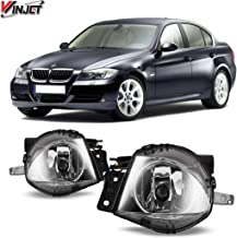 Winjet Fog Lights Compatible With 2006-2008 BMW E90 3 Series | Polycarbonate Resin Clear Driving Running Foglight Foglamp Lamps LED Super Bright | 2007