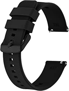 BISONSTRAP Cinturino 18mm 19mm 20mm 21mm 22mm, Cinturini per Orologio in Silicone a Sgancio Rapido per Uomo Donna
