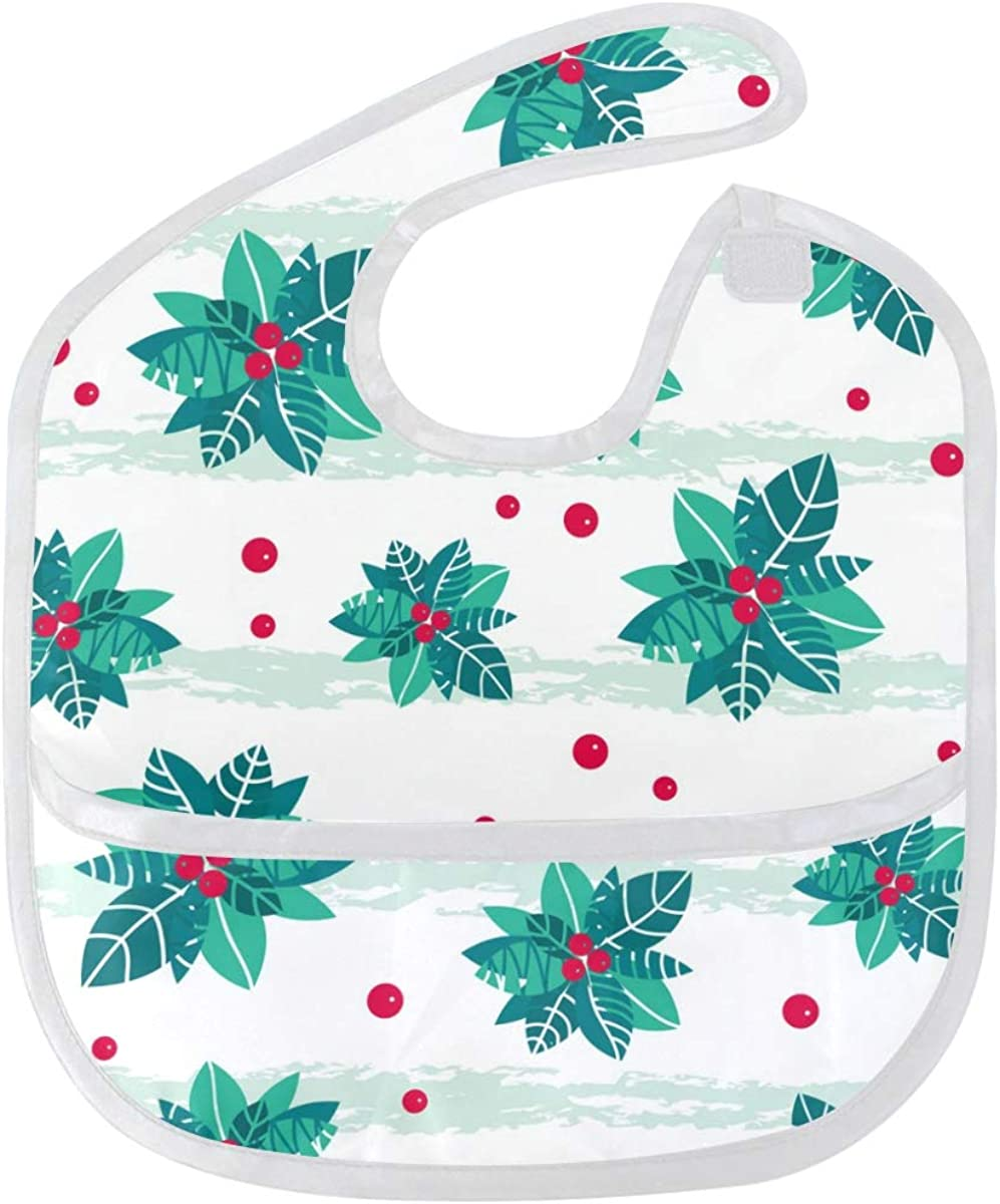 Christmas Tree Baby Bibs Waterproof Washable Re Odor Finally popular 4 years warranty brand Stain and