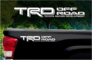 Toyota TRD Truck Off Road 4x4 Toyota Racing Tacoma Decal Vinyl Sticker (WHITE 010)