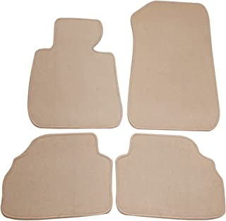Floor Mat Compatible With 2007-2013 BMW E92 3-Series | Front & Rear Beige 4PC Nylon Car Floor Carpets Carpet liner by IKON MOTORSPORTS | 2008 2009 2010 2011 2012