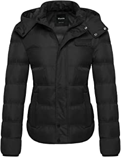 Wantdo Women's Thick Winter Coat Quilted Puffer Jacket with Removable Hood