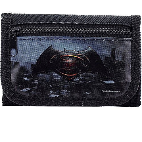DC Comics Batman vs Superman Dawn Justice Authentic Licensed Trifold Wallet (Black), 4.5