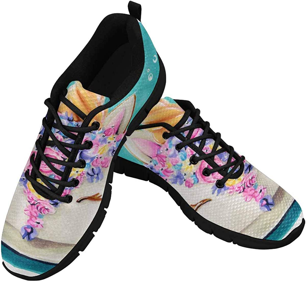 InterestPrint Unicorn Cake Women's Tennis Running Shoes Lightweight Sneakers