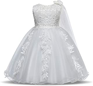 Vestido de Princesa Niña Niñas Princesa Vestido de encaje Apliques Sin mangas Fancy Tutu Vestido de tul Niñas Glitter Page...