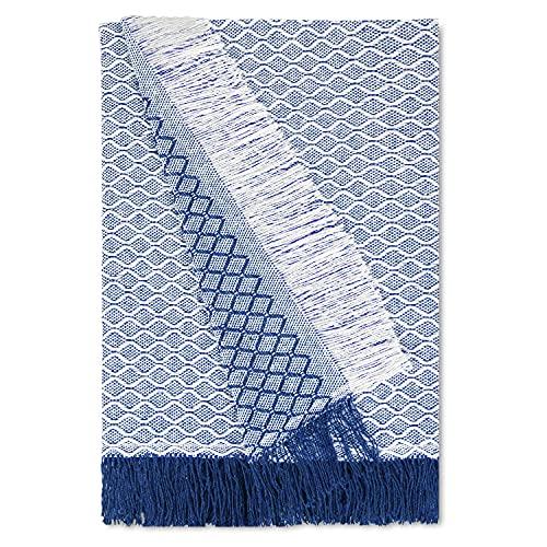 Trapposhome Colcha para Sofa. Mantas para Cama. Plaid Multiusos para Sofa Cama. Cubre Sofas. Funda para Cama 90 cm Sofa Cama. Altea. 180 x 260 cm. Color Azul