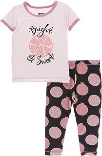 KicKee Pants Print Short Sleeve Pajama Set in Feather Mandala