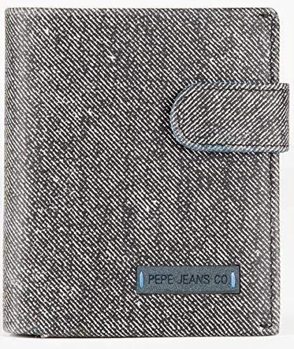 Pepe Jeans Jeans Cartera vertical con cierre de clic Negro 8,5x10,5x1 cms Piel