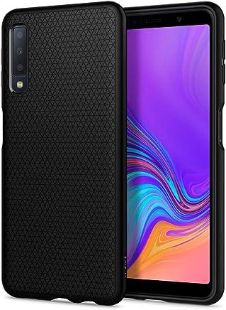 Spigen Liquid Air per Samsung Galaxy A7 2018 Cover, TPU Nera Levigata qualità Elevata Massima Protezione Cover per Samsung Galaxy A7 2018 - Nero