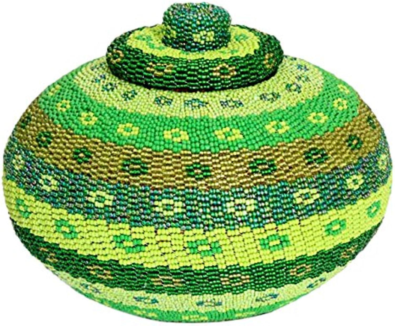NOVICA 165124  Tropical Glamour Beaded Rattan Jewelry Box