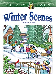 winter scenes coloring book by marty noble