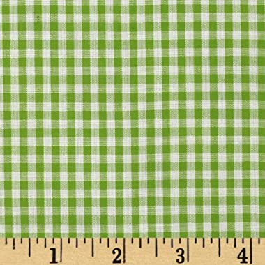 Richland Textiles Wide Width 1/8'' Gingham Check Fabric, Lime, Fabric by the yard