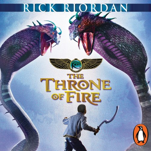 The Throne of Fire: The Kane Chronicles, Book 2 audiobook cover art