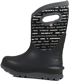 BOGS Boys' Neo-Classic Spot Stripes Waterproof Winter Boot Blk Multi