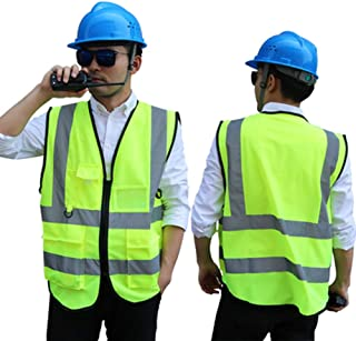 67200460574 CRRQQ Chaleco de Seguridad de Alta Visibilidad/Personalizado Su Logotipo  Ropa de Trabajo Protectora/