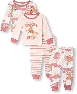 Baby Girls 4 Piece Long Sleeve Pajama Set