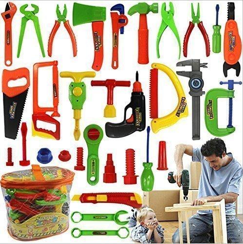 Niuniu Daddy 34-Piece Children Repair Tools Toy Set Pretend Play