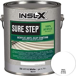 INSL-X SU011009A-01 Sure Step Acrylic Anti-Slip Coating Paint, 1 Gallon, White