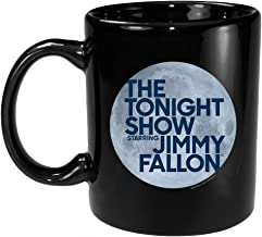 The Tonight Show Starring Jimmy Fallon Logo Ceramic Mug, Black 11 oz - Official Mug As Seen On NBC